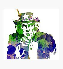 Uncle Sam with Changable background color Photographic Print