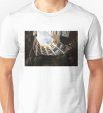 A Courtyard Shaped Like a Hug - Antoni Gaudi La Pedrera or Casa Mila in Barcelona, Spain Unisex T-Shirt
