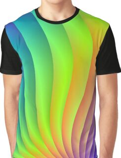 Color Waves Graphic T-Shirt