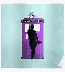 The Jesus private call box Tardis Poster