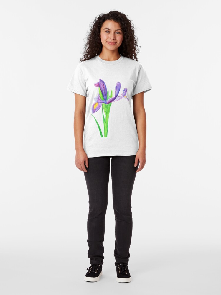 Alternate view of Iris in Watercolour Pencil Classic T-Shirt