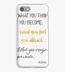 Gautama Buddha quote, gold iPhone Case/Skin