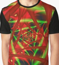 Red and Green Neural Network Graphic T-Shirt