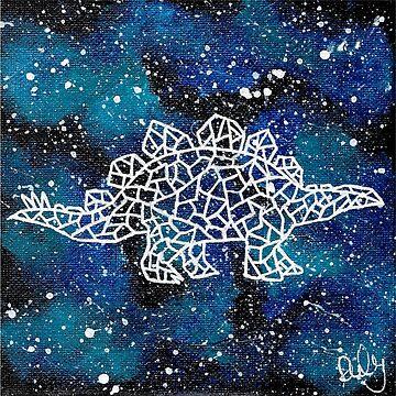 Geometric space dinosaur by RubyBlue27