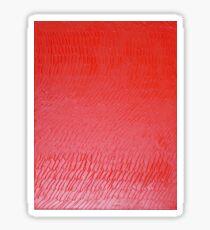 Textured Red Sticker