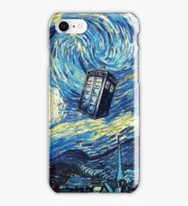 Tardis Starry Night Art Painting iPhone Case/Skin