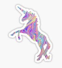 Rainbow Oil Spill Unicorn Tumblr Sticker
