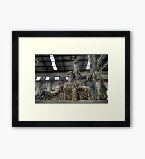 West turns East on its head Framed Print
