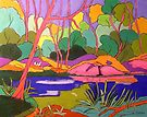 Numinbah State forest Nerang River by Virginia McGowan