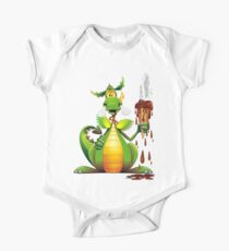 Fun Dragon Cartoon with melted Ice Cream Kids Clothes