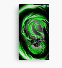 Electrified Mysticism - green Canvas Print