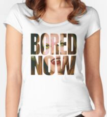Bored now - Vampire Willow Women's Fitted Scoop T-Shirt