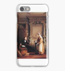 William Mulready - An Interior Including a Portrait of John Sheepshanks at His Residence in Old Bond Street iPhone Case/Skin