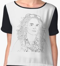 tina fey drawing Chiffon Top