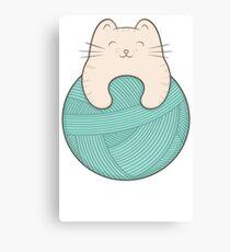 knit cat Canvas Print