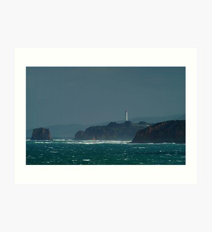 Bleak Weather, Aireys Inlet, Split Point. Art Print