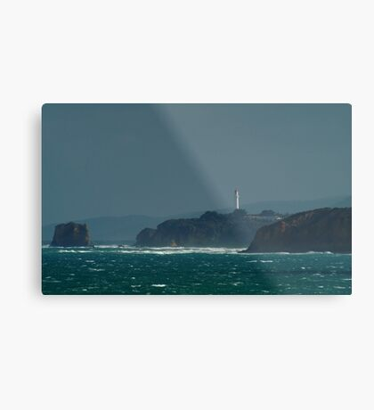 Bleak Weather, Aireys Inlet, Split Point. Metal Print
