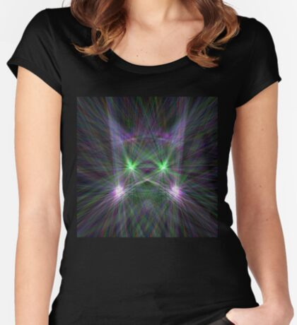 Space Cat Fitted Scoop T-Shirt