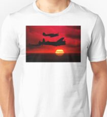 BBMF Vic Sunset Silhouette Montage T-Shirt
