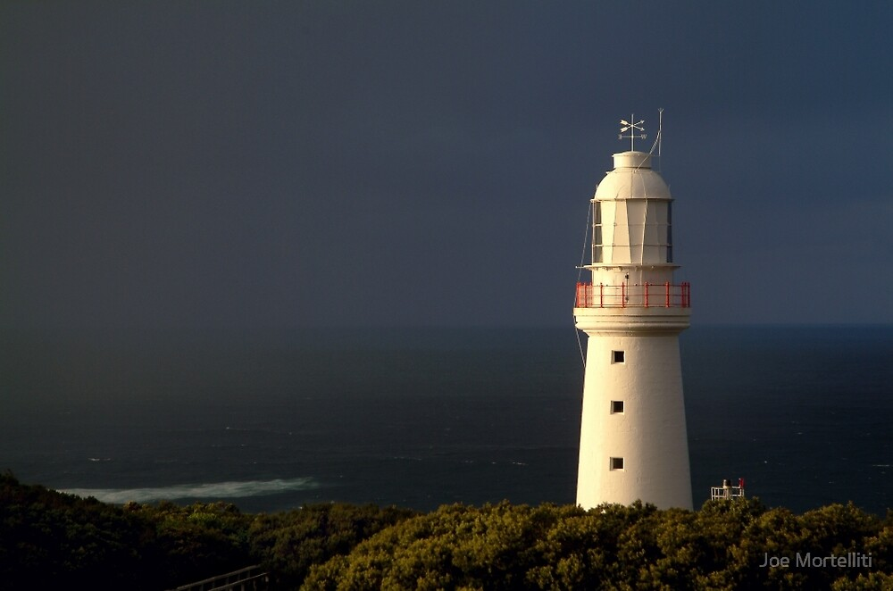 Sunrise Rain, Light Station Cape Otway on Bass Strait by Joe Mortelliti