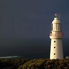 Sunrise Rain, Light Station Cape Otway on Bass Strait by Joe Mortelliti