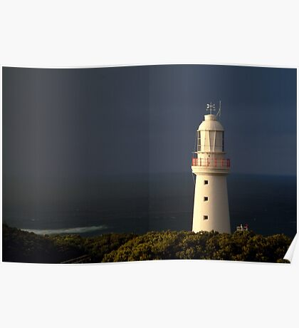 Sunrise Rain, Light Station Cape Otway on Bass Strait Poster