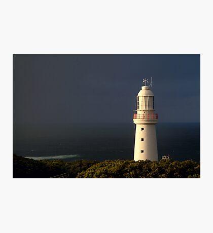 Sunrise Rain, Light Station Cape Otway on Bass Strait Photographic Print