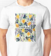 Tropical Wanderlust – Orange & Emerald Unisex T-Shirt