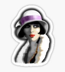 Girl's Twenties Vintage Glamour Portrait Sticker