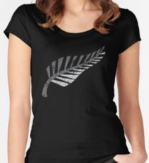 Silver fern distressed  Women's Fitted Scoop T-Shirt