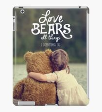 LOVE BEARS ALL THINGS iPad Case/Skin