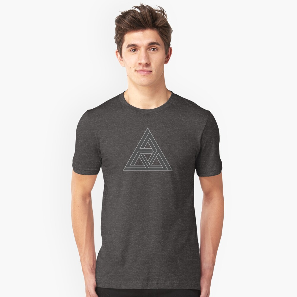 Mind Bending Isometric Triangle Unisex T-Shirt Front