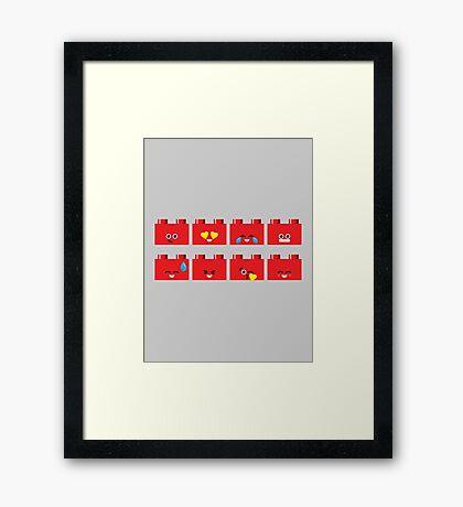 Emoji Building - Lego Framed Print