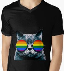 Gay Cat with Sunglasses T-Shirt