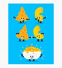 Character Fusion - Mac N Cheese Photographic Print