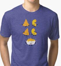 Character Fusion - Mac N Cheese Tri-blend T-Shirt