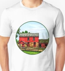 Red Barn with Fence Unisex T-Shirt
