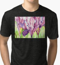 Water Iris Tri-blend T-Shirt
