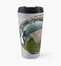Hurry Head Harbour, Carnlough, County Antrim - Sky out Travel Mug