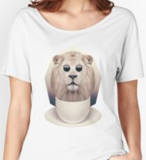 Caffeinimals: Lion Women's Relaxed Fit T-Shirt