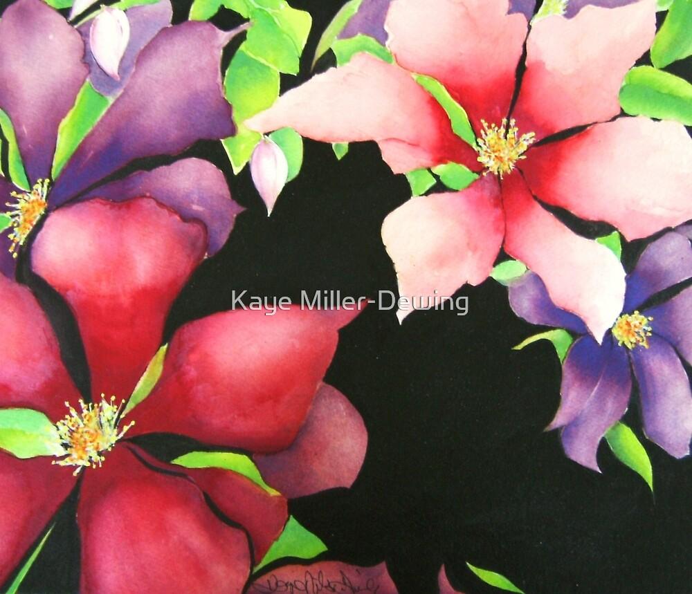 Silk Clematis by Kaye Miller-Dewing