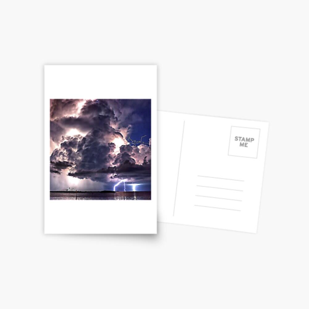Lightning in HDR Postcard