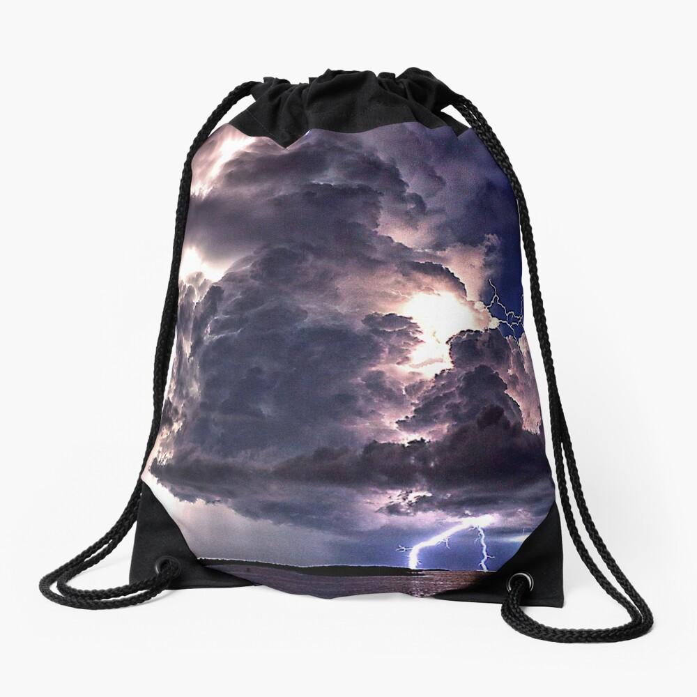Lightning in HDR Drawstring Bag