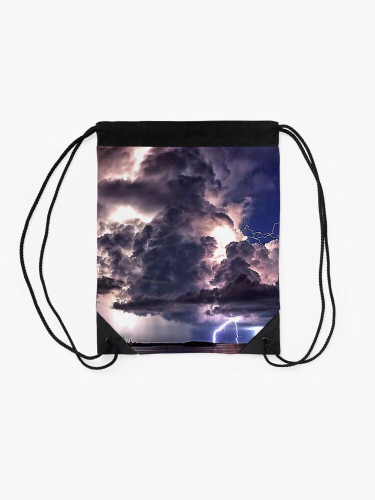 Alternate view of Lightning in HDR Drawstring Bag
