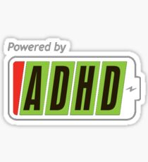 Powered By ADHD Sticker