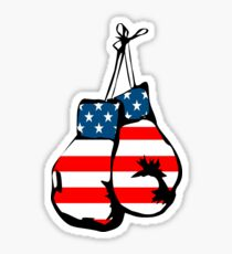 USA Boxing Gloves Stickers Sticker