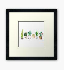 Potted Cacti Gerahmtes Wandbild