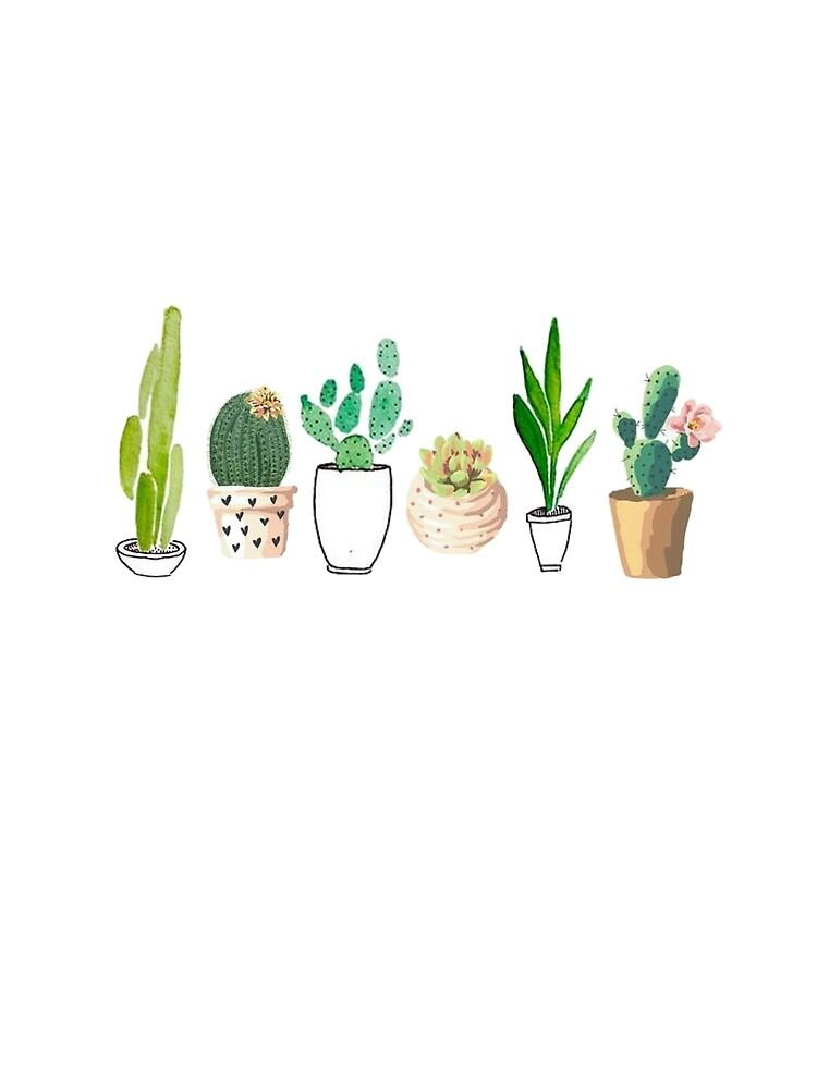 Potted Cacti von hannahahkane