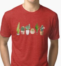 POTTED CACTI Tri-blend T-Shirt