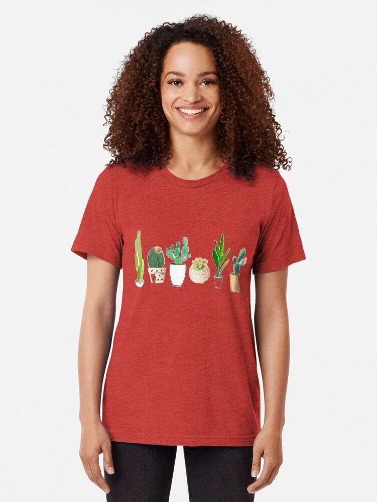 Vista alternativa de Camiseta de tejido mixto POTTED CACTI
